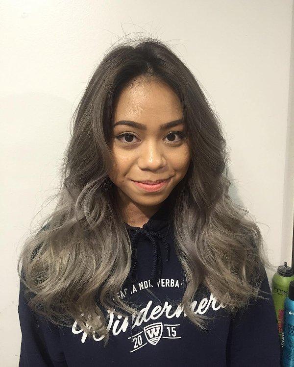 Ash Braune Haarfarbe