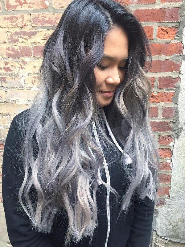 Grau Metallic Haarfarben