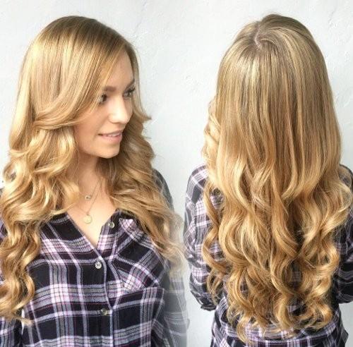 Honig-Schaum-Haarfarbe