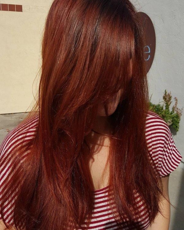 Kupfer Rot Haarfarbe