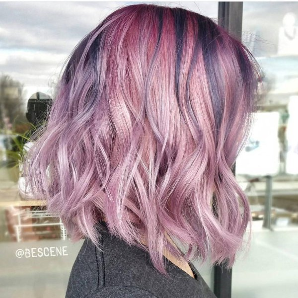 Pink Metallic Haarfarben
