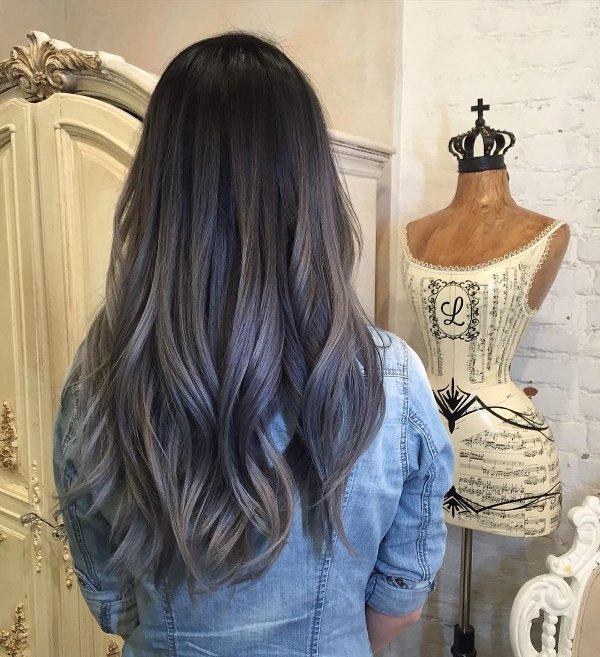 Haarfarbe mit silber