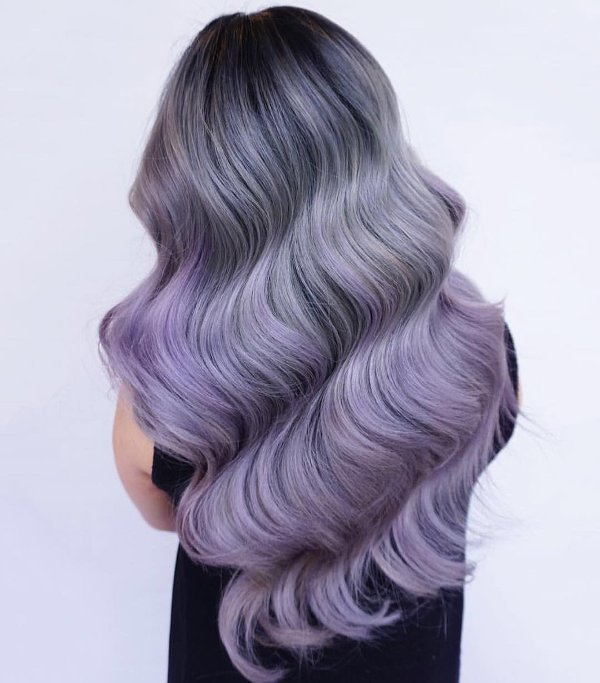 Graue Blau Haare färben