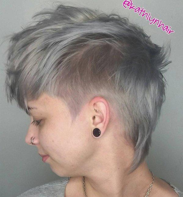 Kurze und Graue Haare färben