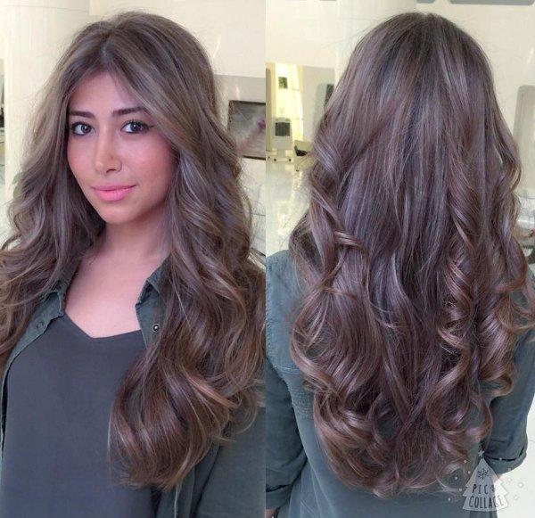 braune haare in grau farben modische haarschnitte und haarf rbungen. Black Bedroom Furniture Sets. Home Design Ideas