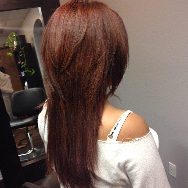 Haarfarbe von braun auf kupfer