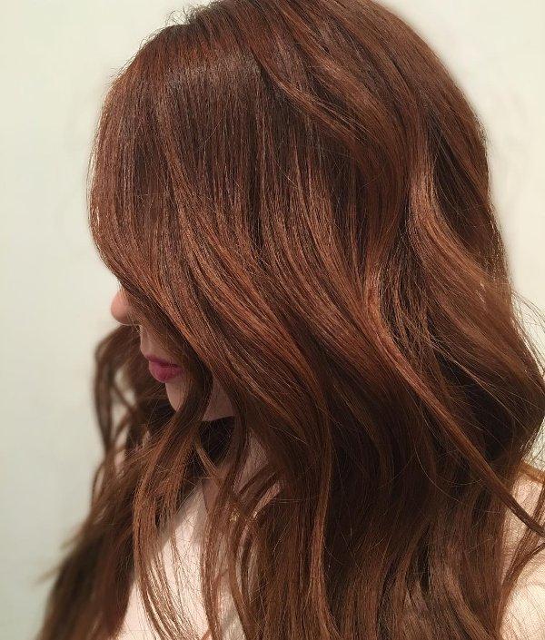 Kupfer Braune Haarfarbe
