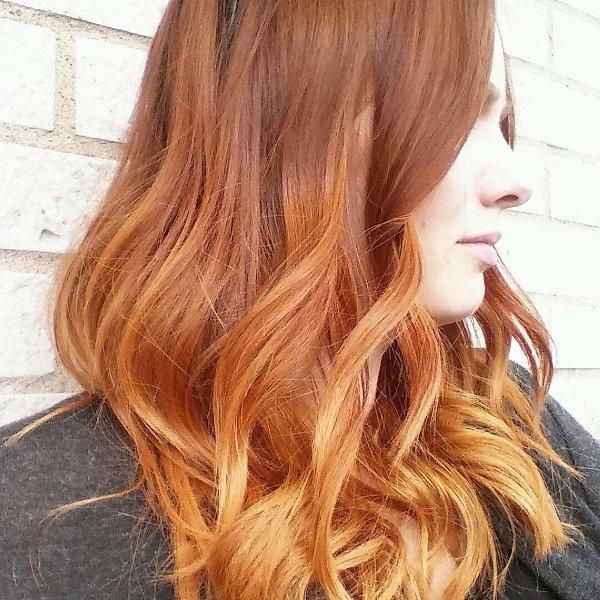 Kupferrote Haarfarbe