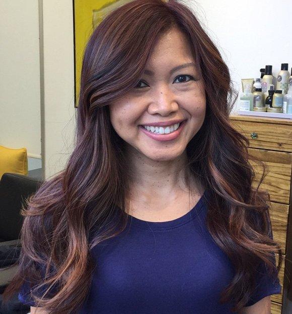 Mahagoni Braune Haarfarbe 2