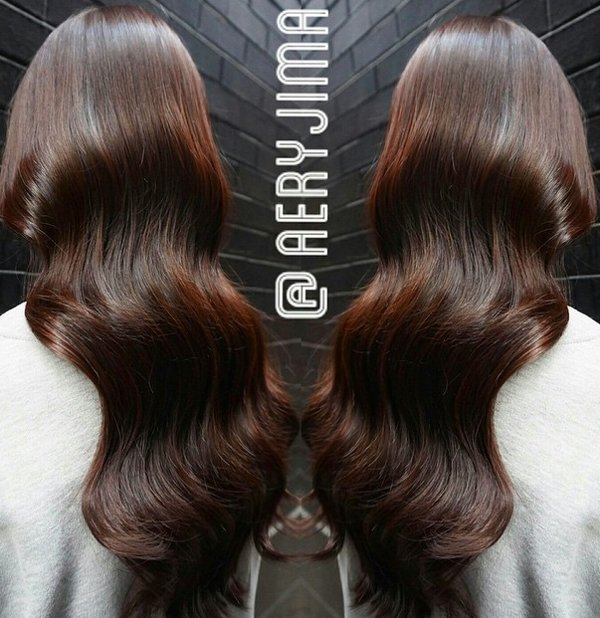 Mahagoni Braune Haarfarbe 4