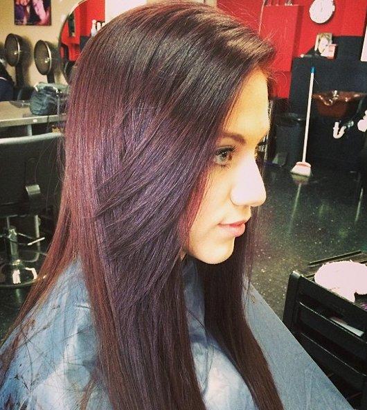 Mahagoni Braune Haarfarbe 5