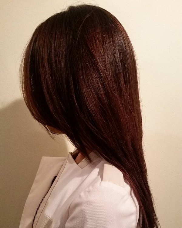 Mahagoni Braune Haarfarbe