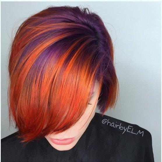 Neon Orange Haarfarbe