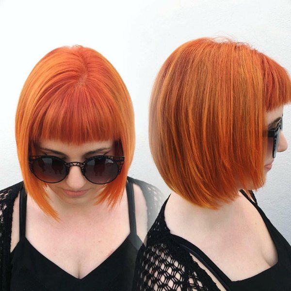 Neon Orange Haarfarbe