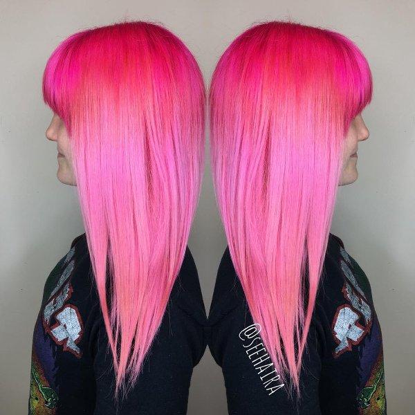 Neon Pink Haarfarbe