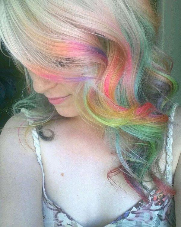 Neonfarben für Haare