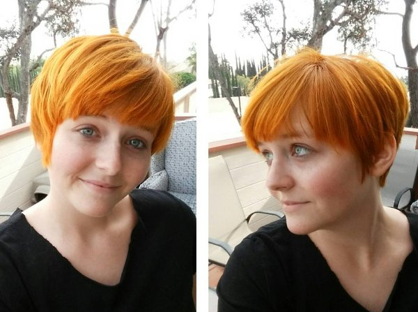 Orange Haare Pixie cut