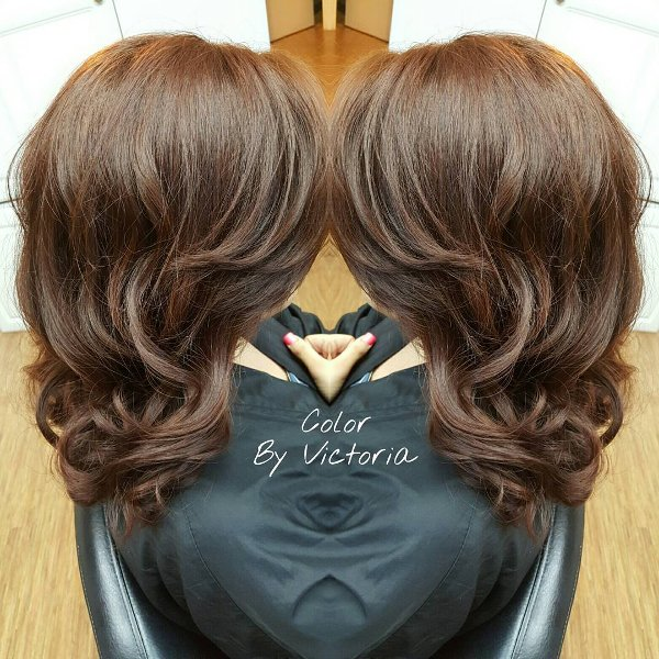Rotbraun Haarfarbe