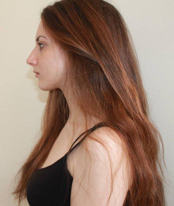 Rotbraune Haarfarbe