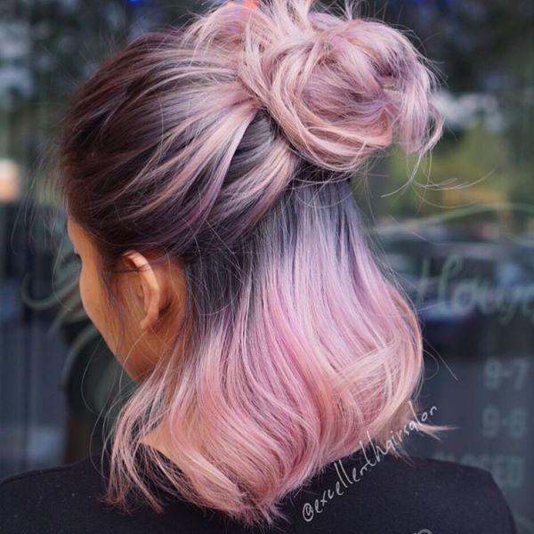 messy dutt dünne haare