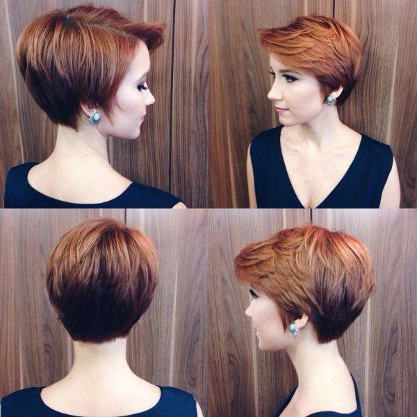 Rote Pixie Frisur