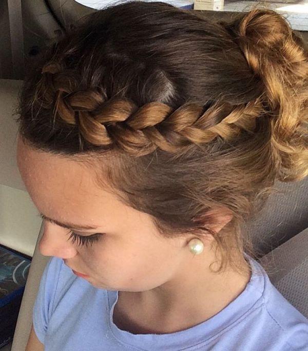Französischer Zopf für mittellanges Haar