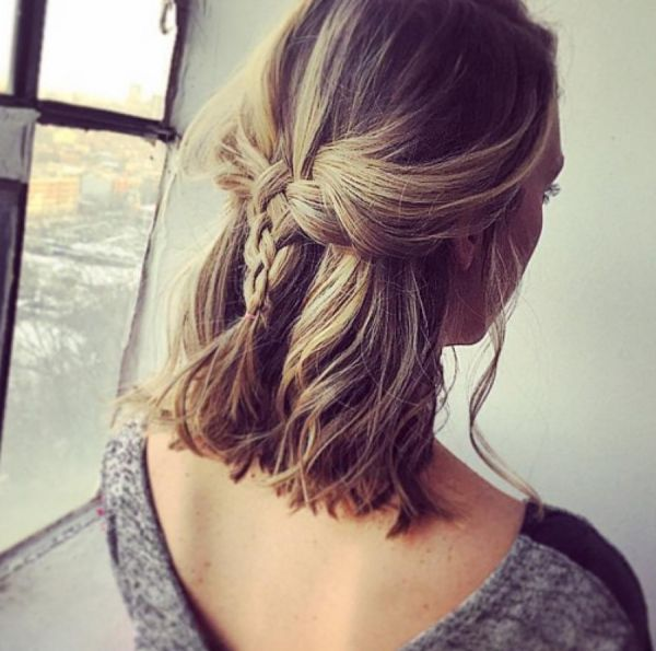 Zopf frisuren fur schulterlanges haar