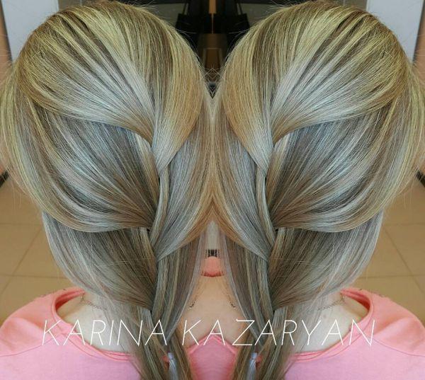 braune strähnen auf blond