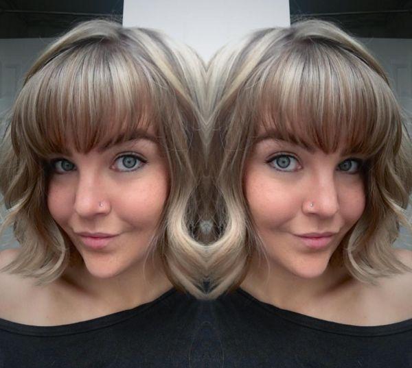 Aschblond mit braunen strähnen