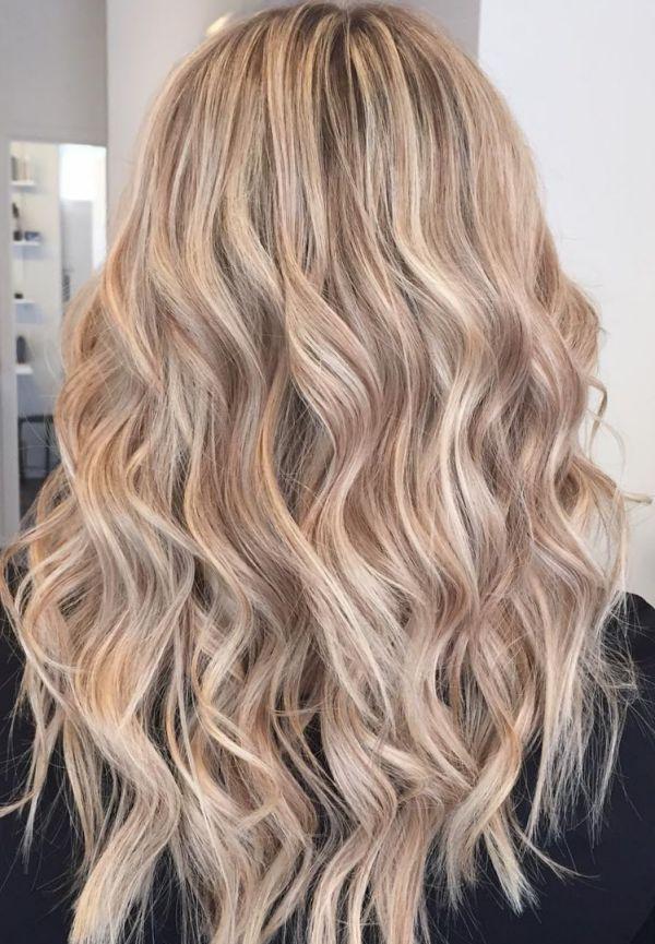 Hellblond mit braunen strähnen