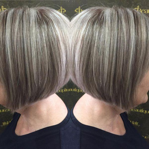 Dunkle Strähnchen Auf Verschiedenen Haarfarben
