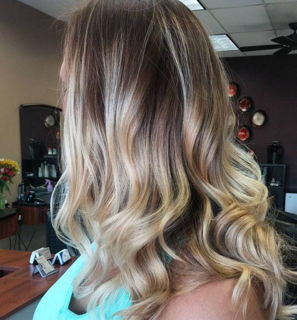 braune haare mit blonden highlights