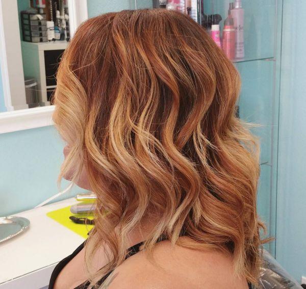 Rote Haare Mit Blonden Spitzen Ombre Blond Für Braune Und Blonde