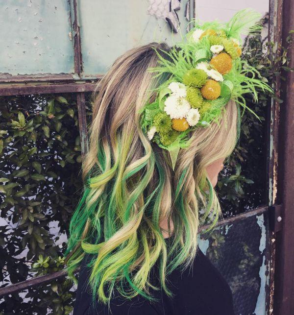 Neuer Trend: grüne haarkreide