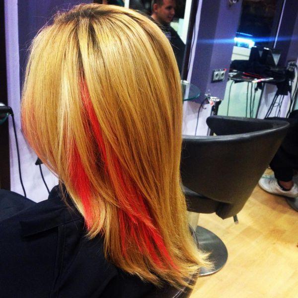 haarkreide auf blondiertem haar - Hair Chalk