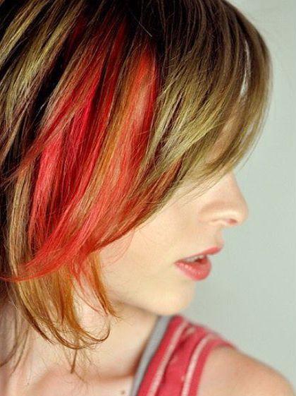 Neuer Trend - rote haarkreide
