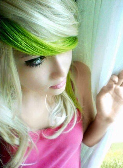 Neuer Trend - grüne haarkreide5