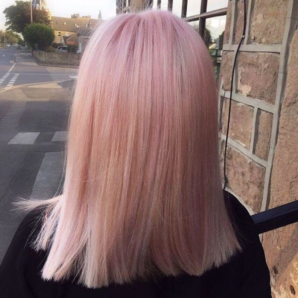 Blonde Rose Gold Haarfarbe