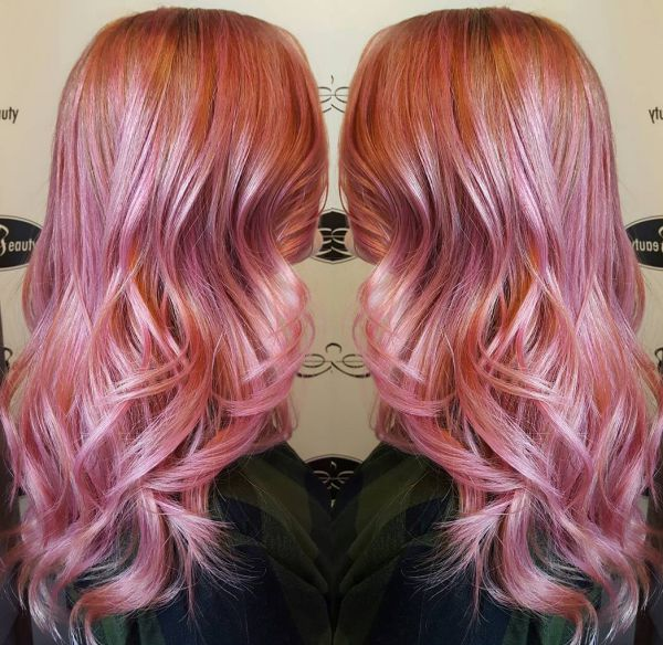 Rose Gold Haarfarbe
