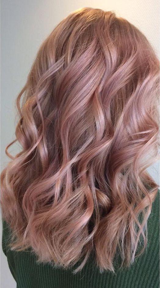 Haarfarbe Rose Gold