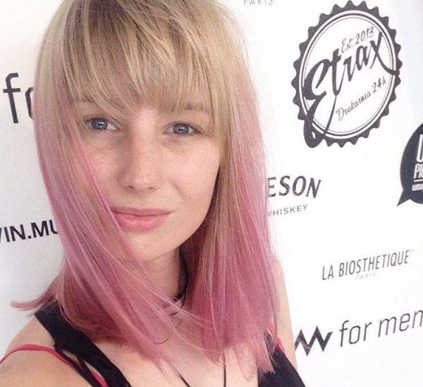 Pink Ombré-Look