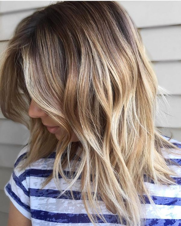 Frisuren mit blonde Ombré-Hair