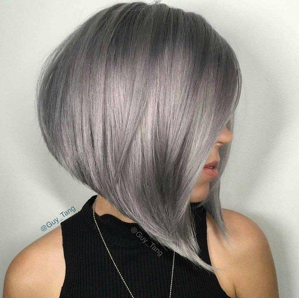 Lange Bob Grau Haare