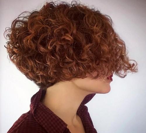 bob frisur locken rot haarfarben 20 - allefrisuren.de
