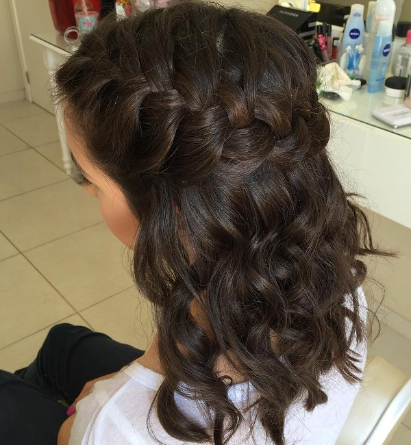 Top Flechtfrisuren Mit Locken 1 - Allefrisuren.de &AA_22